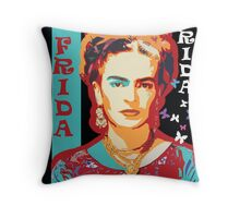 Digital Frida Throw Pillow