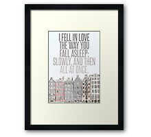 The Way You Fall Asleep Framed Print