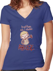 ABUSE!! Women's Fitted V-Neck T-Shirt