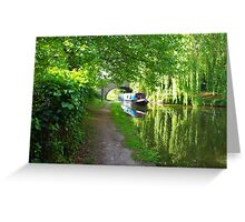 on Grand Union Canal Greeting Card