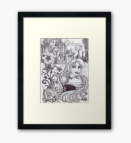 Monochrome Princess A Framed Print