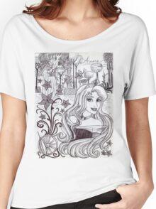 Monochrome Princess A Women's Relaxed Fit T-Shirt