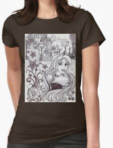 Monochrome Princess A Womens Fitted T-Shirt