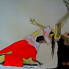 belly dancer pose by Narin Ismail