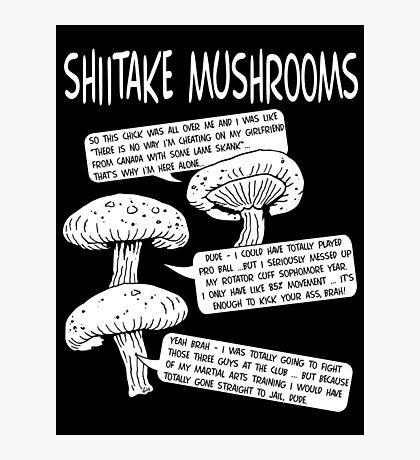 Shiitake Mushrooms Photographic Print
