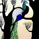 Peacock on tree by Narin Ismail