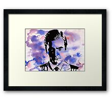 The Purple Man Framed Print