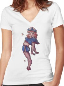 ohhhhhh Women's Fitted V-Neck T-Shirt