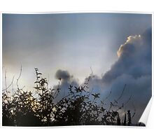 Winter storm clouds Poster
