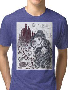 Monochrome Princess B Tri-blend T-Shirt
