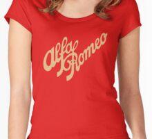 Alfa Romeo script in GOLD Women's Fitted Scoop T-Shirt
