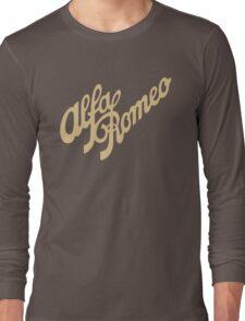 Alfa Romeo script in GOLD Long Sleeve T-Shirt