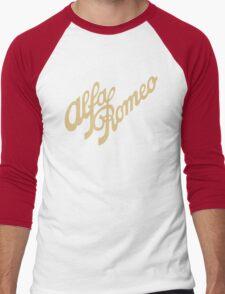 Alfa Romeo script in GOLD Men's Baseball ¾ T-Shirt