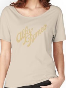 Alfa Romeo script in GOLD Women's Relaxed Fit T-Shirt