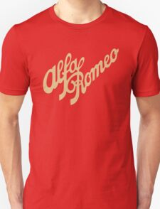 Alfa Romeo script in GOLD T-Shirt