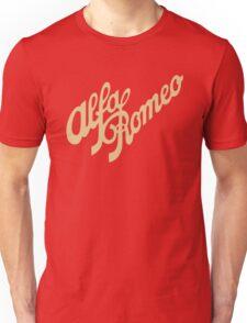 Alfa Romeo script in GOLD T-Shirt