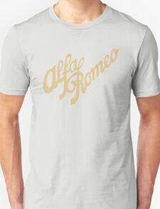 Alfa Romeo script in GOLD Unisex T-Shirt