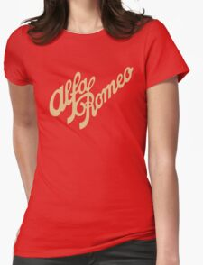 Alfa Romeo script in GOLD Womens Fitted T-Shirt