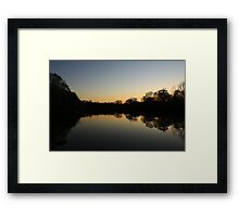 South End of Hidden Lake, Lisle, IL. Framed Print
