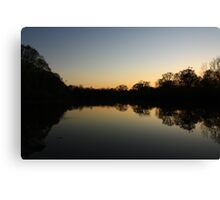 South End of Hidden Lake, Lisle, IL. Canvas Print