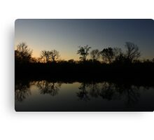 The Middle of Hidden Lake, Lisle, IL. Canvas Print