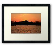 Orange Sunset over Lisle High School Framed Print