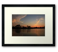 Sunset in Lisle Community Park Framed Print