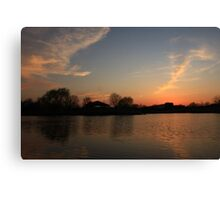 Sunset in Lisle Community Park Canvas Print