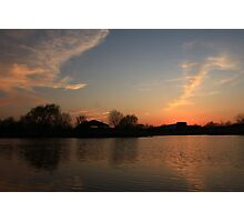 Sunset in Lisle Community Park Photographic Print