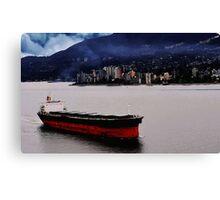 City Ship Canvas Print