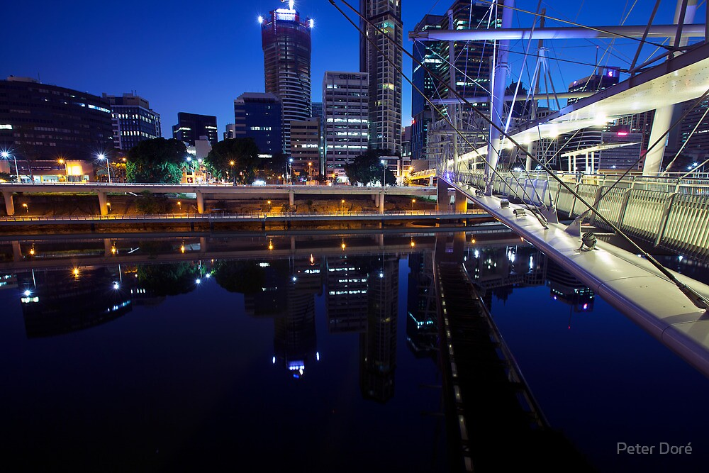 Brisbane Reflections by Peter Doré