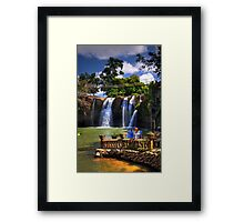 Waterfalls In Cairns Framed Print