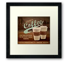 Castle's Coffee Framed Print