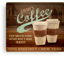 Castle's Coffee Canvas Print
