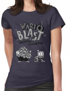 Wario BLAST! Womens Fitted T-Shirt
