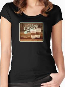 Castle's Coffee T-Shirt Women's Fitted Scoop T-Shirt