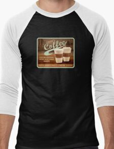 Castle's Coffee T-Shirt Men's Baseball ¾ T-Shirt