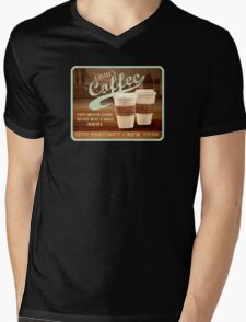 Castle's Coffee T-Shirt Mens V-Neck T-Shirt