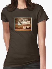 Castle's Coffee T-Shirt Womens Fitted T-Shirt
