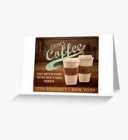Castle's Coffee T-Shirt Greeting Card