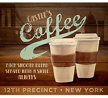 Castle's Coffee T-Shirt Photographic Print