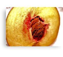 The Heart of the Peach Canvas Print