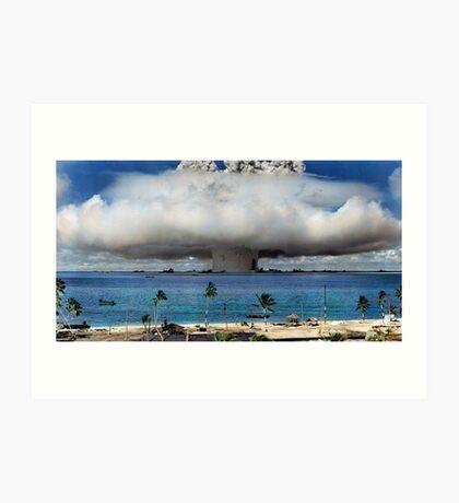Colorized Operation Crossroads Baker, Bikini Atoll,1946 Art Print