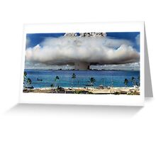Colorized Operation Crossroads Baker, Bikini Atoll,1946 Greeting Card