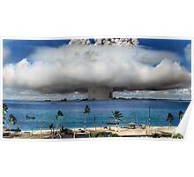 Colorized Operation Crossroads Baker, Bikini Atoll,1946 Poster