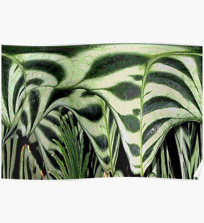 Abstract Greenery Poster