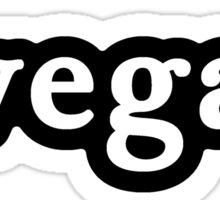 Vegan - Hashtag - Black & White Sticker