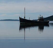 Old Fishing Trawler by Lynn Bolt