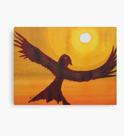 Red Crow Repulsing the Monkey original painting Canvas Print