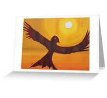 Red Crow Repulsing the Monkey original painting Greeting Card